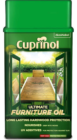 Cuprinol Ultimate Hardwood Furniture Oil Clear / Light Oak / Mahogany 3 in 1