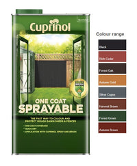 Cuprinol One Coat Sprayable Fence Treatment - All Colours - 5 Litres
