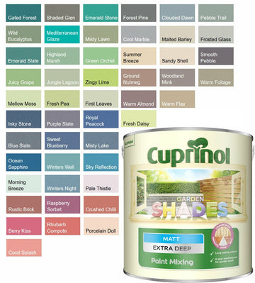 Cuprinol Garden Shades Paint - Furniture Sheds Fences - Special Mixes Colours