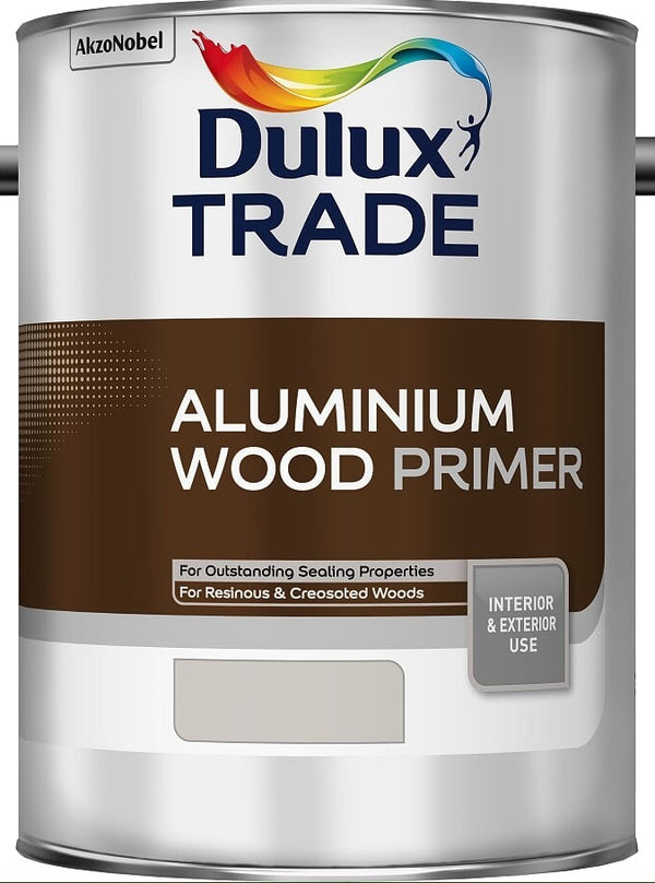 Dulux Trade Aluminium Wood Primer Silver 1L / 2.5L / 5 Litres / ALL SIZES