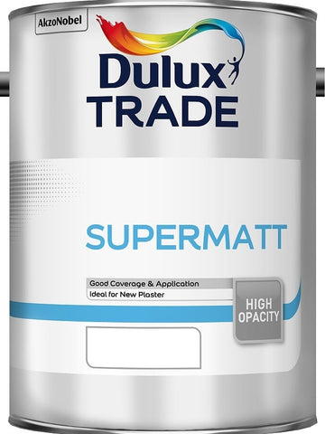 Dulux Trade Supermatt Paint 10L / 5 Litres ALL COLOURS & SIZES