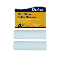 Dulux - Perfect Cover Mini Gloss Paint Roller Sleeve - 2 Pack