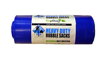 6 Eco Bags Heavy Duty Rubble Sacks - Blue - 30ltr