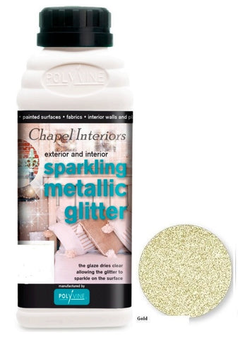 Polyvine Glitter Glaze Gold, Pink, Rainbow & Silver Water Based Low Odor