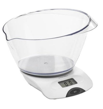 Hanson Electronic Kitchen Scale with Transparent Bowl - 5 Kg / 2 Litre - White