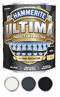 Hammerite Ultima Matt Metal Paint - 750ml - All Colours
