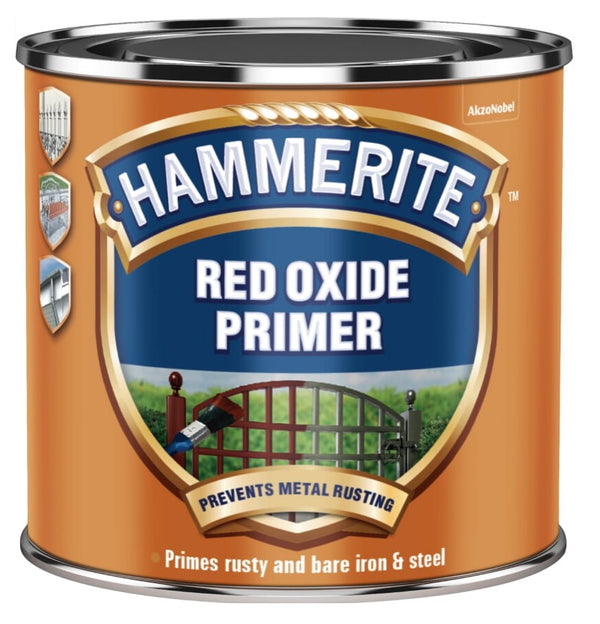 Hammerite - Red Oxide Primer - Quick drying- 250ml or 500ml