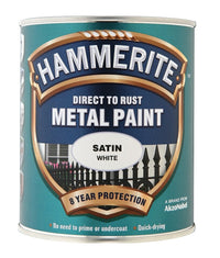 Hammerite - Satin Direct To Rust Metal Paint- All Colours - All Sizes