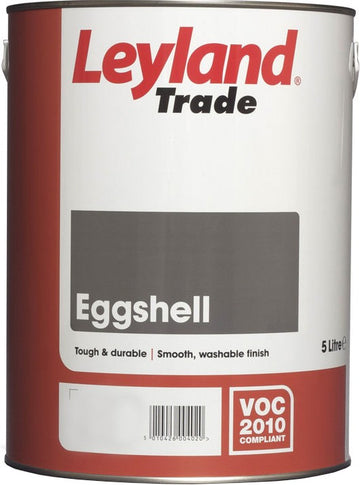 Leyland Eggshell Paint Black / Brilliant White / Gardenia / Magnolia ALL SIZES
