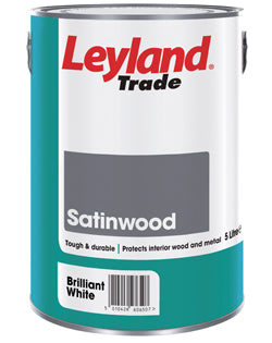 Leyland Trade Satinwood Paint - Brilliant White - All Sizes