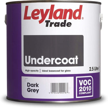 Leyland Trade Undercoat Paint - Dark Grey - All Sizes