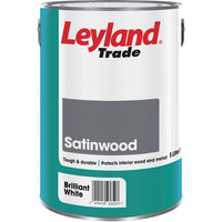 Leyland Satinwood Brilliant White Paint 750ml / 2.5 litres / 5 litres
