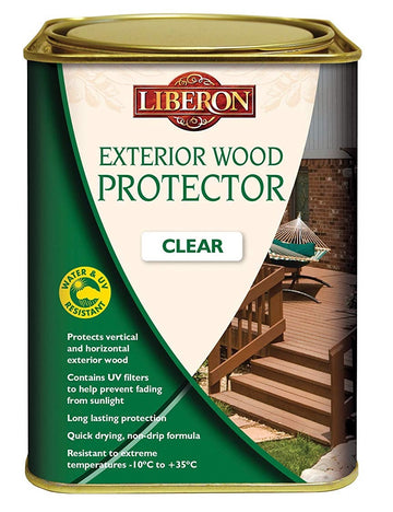 Liberon Exterior UV Wood Protector - Clear - 1, 2.5 and 5 Litre