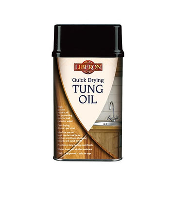 Liberon Quick Dry Tung Oil - Interior and Exterior Natural Wood Oil  - All Sizes