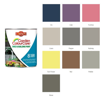 Liberon Colour Care Shed and Building Paint - All Sizes - All Colours