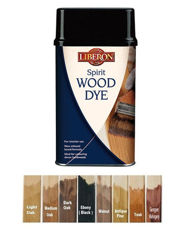 Liberon Spirit Traditional Hardwood Furniture Wood Dye - All Colours and Sizes