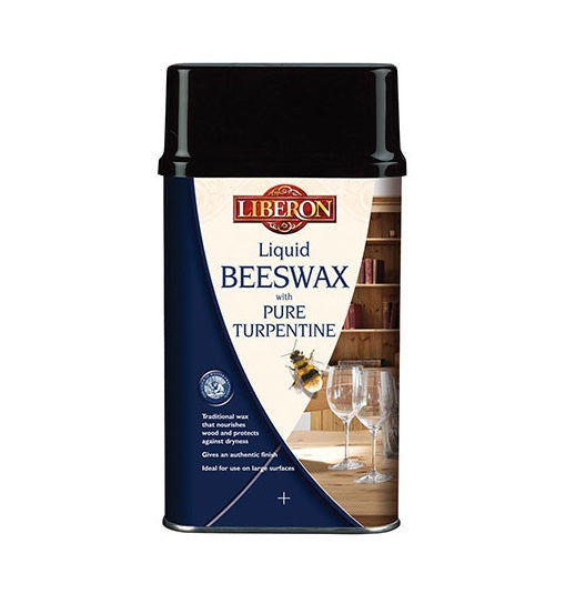 Liberon Liquid Beeswax with Pure Turpentine - Antique Pine - 1 Litre
