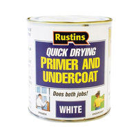 Rustins Quick Dry Primer & Undercoat White 250ml / 500ml / 1L / 2.5L ALL SIZES