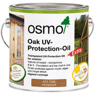 Osmo UV Protection Oil Tints - Oak Satin - With Film Protection - 2.5 Litre