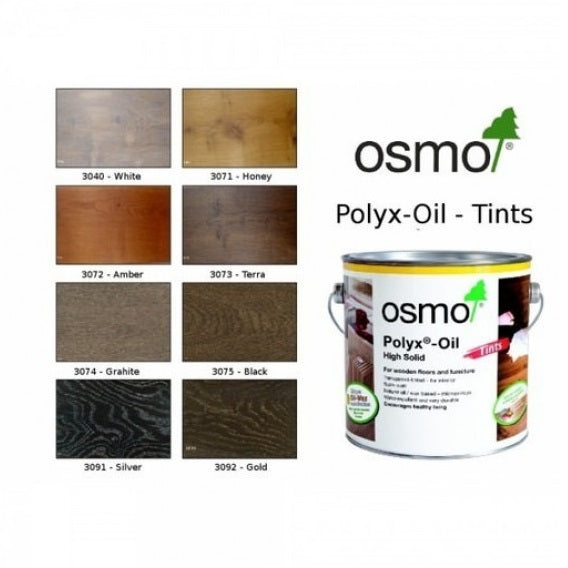Osmo Polyx Hard Wax Oil Tints - All Colours - All Sizes