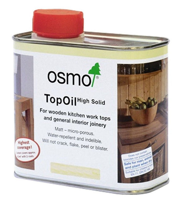 Osmo Top Oil - Natural, Acacia, Clear Matt and Satin - 0.5 Litre