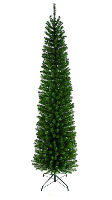 Glenmore Pine Christmas Tree - Slim Green Pencil Pine - 198 CM