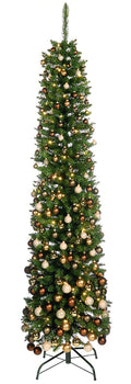 Glenmore Pine Christmas Tree - Slim Green Pencil Pine - 198 CM (6.5 Foot)