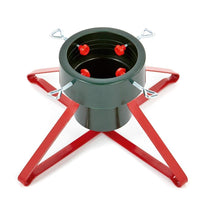 Premier Heavy Duty Metal Real Christmas Tree Stand - Red or Green - 46 and 57cm