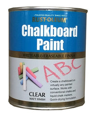 Rust-Oleum Chalkboard Paint - 750ml  - Clear Matt