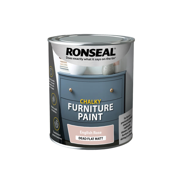 Ronseal Chalky Furniture Paint  750ml Chic Shabby Vintage Paints