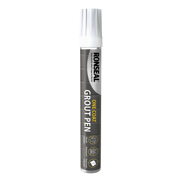 Ronseal One Coat Grout Pen Brilliant White - 15ml