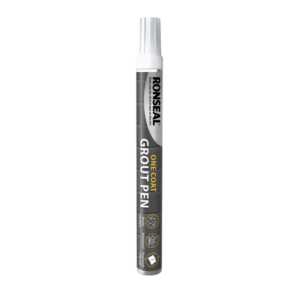 Ronseal One Coat Grout Pen Brilliant White - 7ml