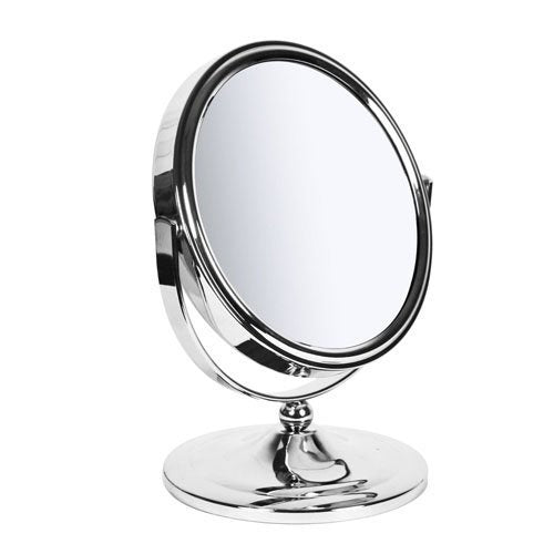 Sabichi Makeup Bathroom New York Mirror - Metal - Silver, 12 x 16.5 x 20.5 cm