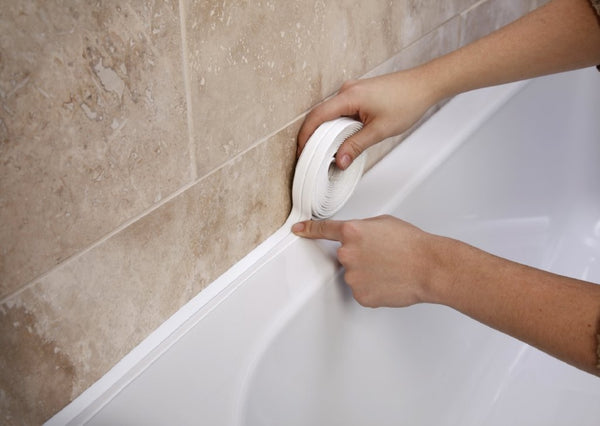 BATHROOM SHOWER SINK BATH SEALING STRIP WHITE 3.35M X 38MM