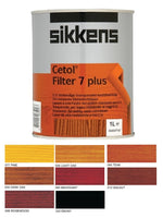 Sikkens Cetol Filter 7 Plus Woodstain Paint - All Sizes - All Colours