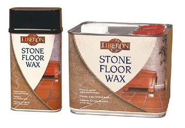 Liberon Stone Floor Wax - Protects, Nourishes and Enhances - 2.5 and 1 Litre