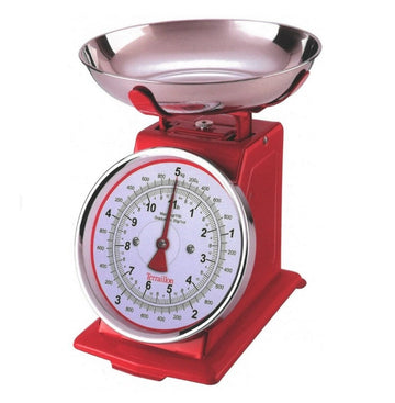 Terraillon Traditional Mechanical Kitchen Scales - Red