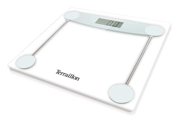 Terraillon TX5000 - Slim Electronic Glass Bathroom Scales - Clear / White