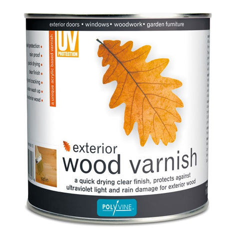 Polyvine Exterior Wood Varnish 500ml, 1 Litre, 4 Litre ALL SIZES AVAILABLE