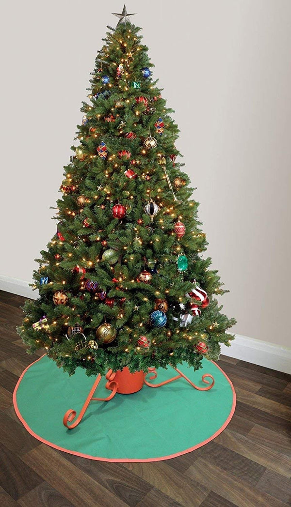 Garland Christmas Tree Stand Floor Protector Mat - Double Sided - Red and Green