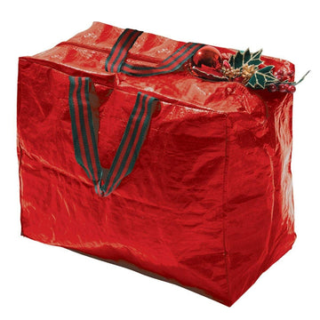 Garland Christmas Decorations Storage Bag - Red - 46cm x 25cm x 38cm