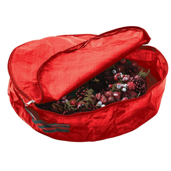 Garland Large Christmas Wreath Storage Bag - Red - 61cm x 10cm