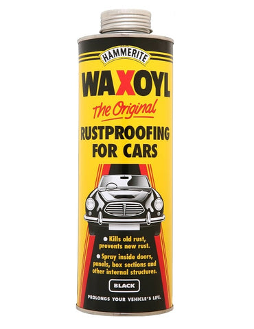Hammerite - Waxoyl Black - Car Rust Proofing - All Sizes