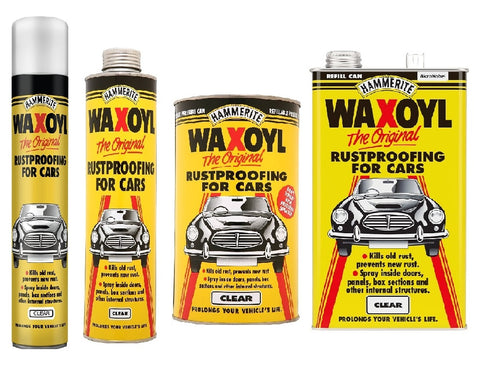 Hammerite - Waxoyl Clear - Car Rust Proofing - All Sizes