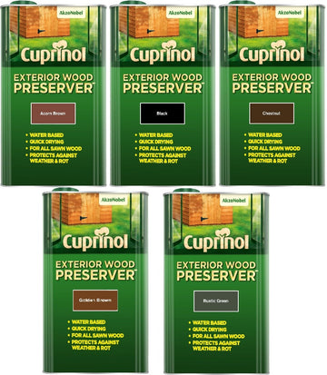 Cuprinol Exterior Wood Preserver - All Sizes and Colours