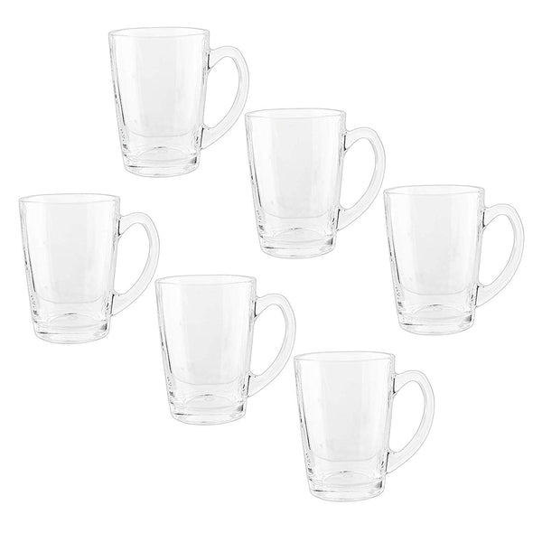 Royal Cuisine Set of 6 Tea Coffee Cups Glasses 295ml Dishwasher Microwave Safe