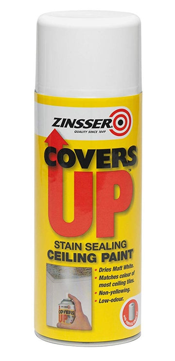 Zinsser Covers Up - Stain Sealing Ceiling Paint - Aerosol 400ml