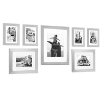7 Piece Silver Decorative Modern Gallery Frame Set