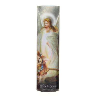 Guardian Angel Flickering LED Prayer Candle with Automatic Timer