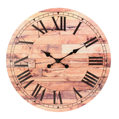 "23.6"" Roman Numeral Wooden MDF Wall Clock"
